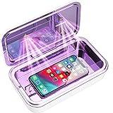 IFLOVE Boîte de stérilisation UV-C LED pour téléphone Portable Grande capacité Stérilisez Le nettoyant désinfectant à la lumière UV avec Charge sans Fil (Blanc)