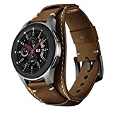 Balerion Cuff Genuine Leather Watch band,Compatible with Samsung Galaxy Watch 3 45mm, Galaxy Watch 46mm,Gear S3 ,Fossil Q Explorist,other Standard 22mm Lug Width Watch,Coffee