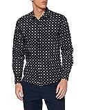 Replay M4038 .000.72138 Camisa , Multicolor ( 10 Negro Con Flor Geométrica Blanca ) , XL para Hombre