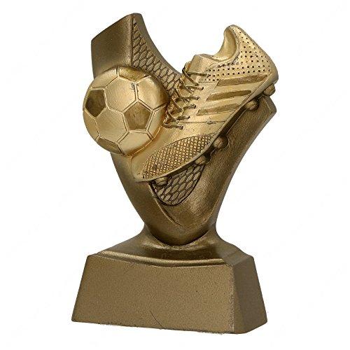 tecnocoppe Trofeo Premiazione Calcio Miglior Giocatore Scarpetta Capocannoniere h 10,00 cm Targhetta Personalizzata Omaggio