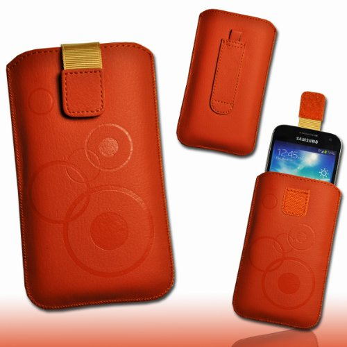 Funda Bolsillo–Funda Case Naranja/Marrón Diseño M74Talla 3para Huawei Honor/Huawei Ascend G300/Sony Xperia...