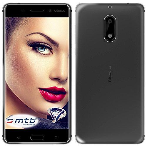 mtb more energy® Schutz-Hülle Clear und Slim für Nokia 6 (5.5'') - transparent - flexibel - TPU Hülle Schutz Hülle Tasche