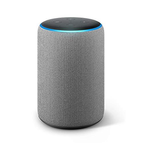 Echo Plus (2. Gen.), mit Premiumklang und integriertem Smart Home-Hub, Hellgrau Stoff