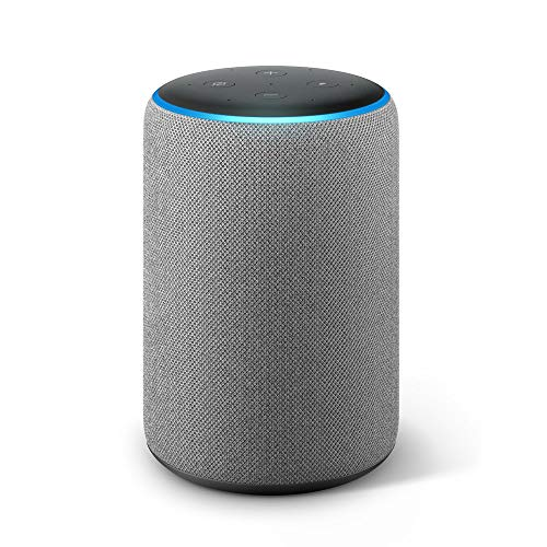 Echo Plus (2nd Gen) – Premium sound with a built-in smart home hub - Heather Grey Fabric