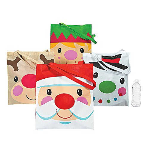 Christmas Character Tote Bags - Set of 12 - Apparel Accessories