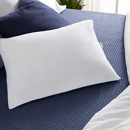 Sleep Innovations 2-in-1 Memory Foam Pillow, King, White