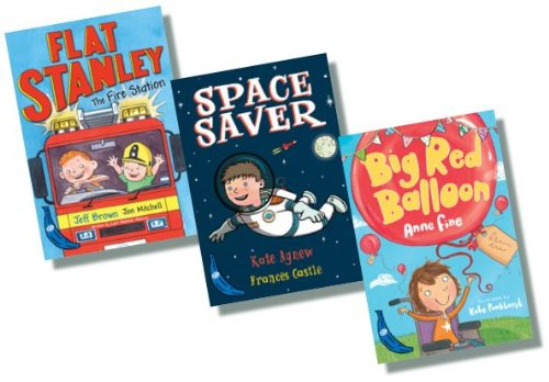 Blue Banana Reading Series Collection - 3 Books RRP £14.97 (Flat Stanley and the Fire Station; Space Saver; The Red Balloon)