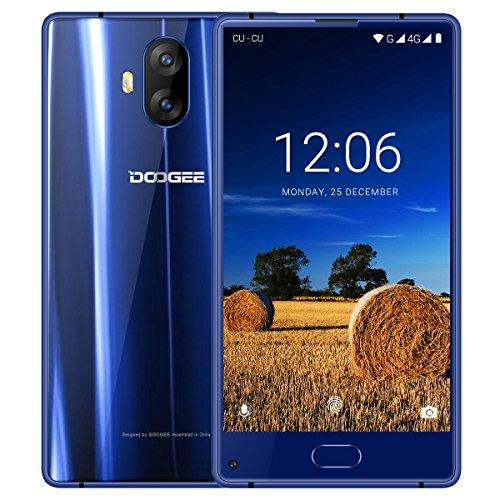 Moviles Baratos 4G, DOOGEE MIX Lite Smartphone Libre Dual SIM, Pantalla de 5.2 Pulgadas HD IPS, 2 GB de RAM, 16 GB, MT6737 Quad Core Android 7.0, Cámara Trasera Doble de 13 MP, Huella Digital - Azul