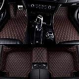 SADGE Alfombrilla de Coche Personalizada de Cuero Mejorado para Chrysler 300C Chrysler Voyager Juego de Almohadillas para pies Alfombra Delantera y Trasera de Lujo Forro de Terciopelo Base Pesada
