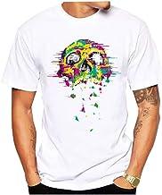 Blwz T-shirt voor heren met doodshoofd, bedrukt, z...