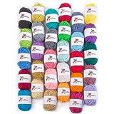 Craftiss 30 Unique Colors Acrylic Yarn Skeins -...