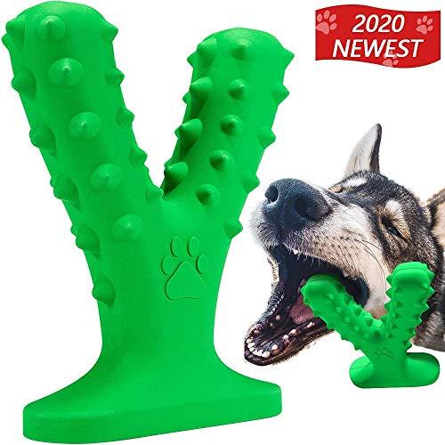 Hund kauspielzeug für Aggressive Kautiere mit Duft, Extrem haltbares von Pitbulls getestet, unzerstörbares Hundespielzeug, interaktiv für die Zahnreinigung