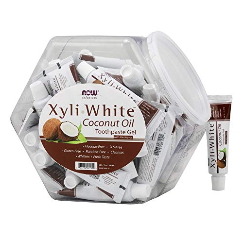 Now solutions Xyliwhite Toothpaste Gel Coconut Oil Cleanses and Whitens Cool CoconutMint Taste Units 1 Ounce Tubes, 1 Count