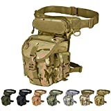 Injoy Mehrzweck-Tasche, Taktische Beintasche, für Oberschenkel, Militär, Motorradkamera, Versipack Utility Tasche, Schwarz/Coyote Tan/Armeegrün/Camouflage, 7 Farben erhältlich, CP Camouflage