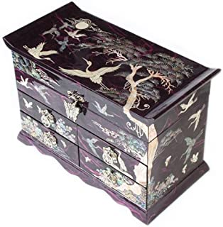 Antique Alive Jewelry Box P00000HD Jewelry Box, Purple