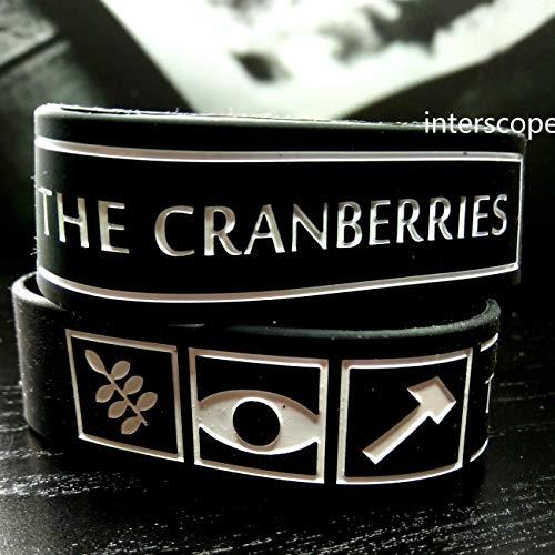 """Pulseira de silicone,""""the cranberries"""" pulseira de silicone, banda de rock ao redor de pulseira"""