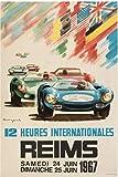 Reims 12 Stunden Auto-Poster Reproduktion/Format 50 x 70 cm