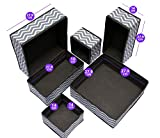 USWAI Set of 6 - Drawer Organiser Foldable Divider – Fabric Storage Boxes for Underwear, Ties, Socks, Bras, Towels, Cosmetics – Grey