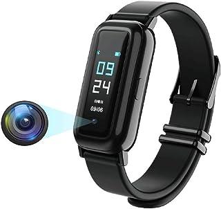 スマートウオッチ 進化版 隠しカメラ IP68防水 天気表示 腕時計型カメラ 録画 高画質 単独録音 32Gメモリ ストップウォッチ 運動記録 音楽制御 遠隔撮影 着信電話通知 アラーム USB充電式 iPhone&Android対応 日本語取...