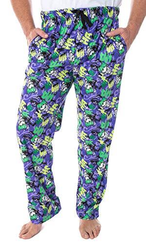 DC Comics Men's The Joker Character Faces HA! HA! HA! Allover Pattern Adult Sleep Lounge Pajama Pants (MD)