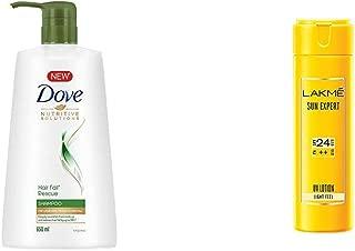 Dove Hair Fall Rescue Shampoo, 650ml & Lakmé Sun Expert SPF 24 PA ++ UV Lotion, 120ml