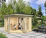 Lasita Maja Gartenhaus Oban I Wandstärke 40 mm