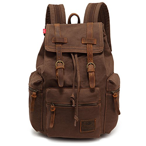 YuHan Canvas Backpack Unisex Vintage Casual Rucksack Laptop Daypacks...