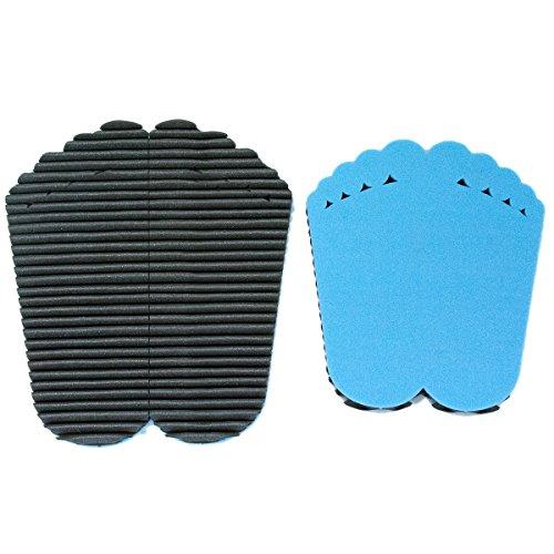 Leggerodesign FootWave Set | 2 tappetini Dopo Sport con l'Effetto massaggiante per Proteggere i Piedi da germi e Funghi in Palestra | Misura Grande: 33x38cm, Piccolo: 30x34cm