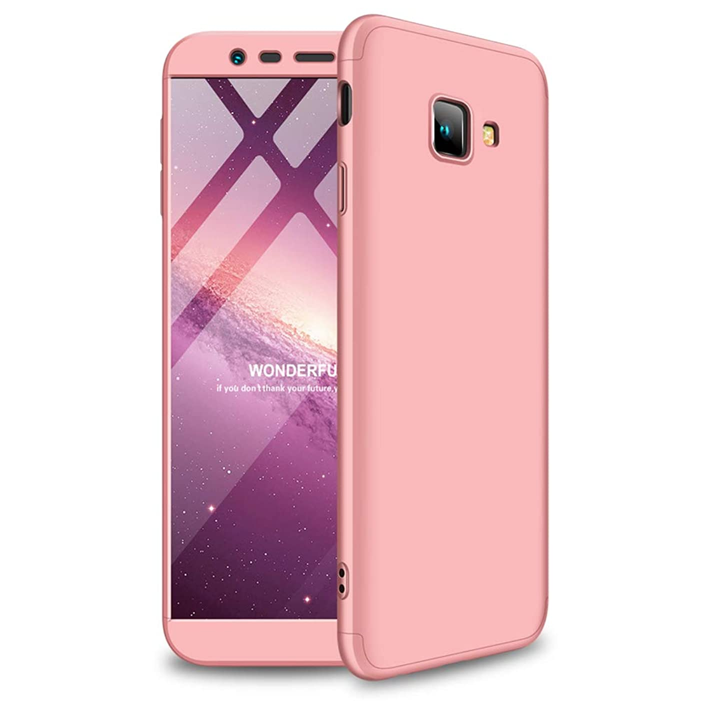 Case for Samsung Galaxy J4 Plus Ultra-Thin 3 in 1 Detachable Anti-Scratch PC Hard Shockproof Cover for Samsung Galaxy J4+ (Rose Gold, Galaxy J4 Plus)