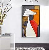 cuadros decoracioncuadroslienzowall art 50x70cm Frameloos Cuadro al óleo abstracto minimalista moderno pintado a mano famoso de Picasso para la decoración de la sala de estar