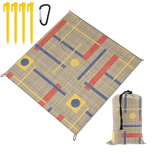 """Picknickdecke """"A Nod To Bauhaus"""", tragbar, leicht, wasserdicht, sanddicht, Tasche, Stranddecke, große Picknick-Matte und für Outdoor-Reisen, Camping, Wandern, Aktivitäten"""