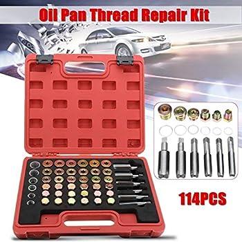 Oil Pan Thread Repair Kit Sump Gearbox Drain Plug Tool Set M13 M15 M17 M20 M22-114Pcs Set
