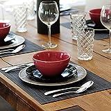 Amazon Brand - Eono Satz von 6 Platzsets, Tischsets PVC Hitzebeständig, Grifffeste Hitzebeständig Platzdeckchen Antifouling und Waschbar - 7