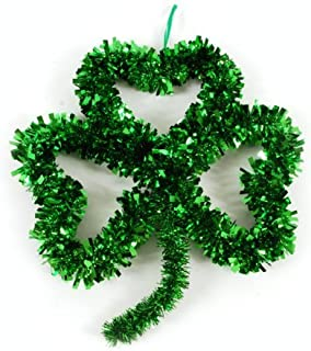 St. Patrick's Day Tinsel Shamrock Wall Decoration by Greenbrier