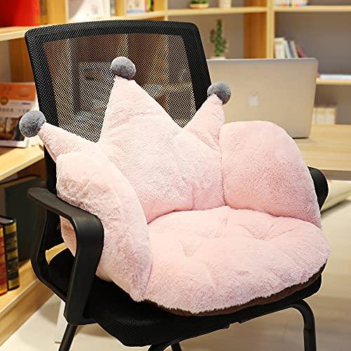 TAIJUN Lindo corona cojín acolchado silla cojín sillón cojín verde monocromo felpa cojín antideslizante cojín sofá dormitorio oficina silla universal (verde)