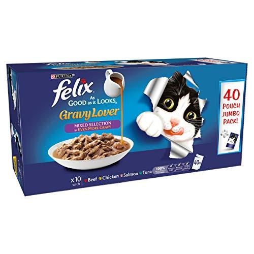 Felix As Good As It Looks Cat Food Gravy Lover...