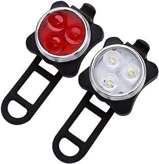 Bike Lights Front and Back 4 Light Mode Super Bright Waterproof Bike Headlight & Taillight USB...
