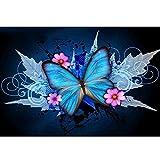 5D Kit de pintura de diamante con taladro completo de hoja de arce mariposa DIY Diamond painting Rhinestone bordado de punto de cruz artes manualidades para decoración de la pared del hogar 30x40 cm