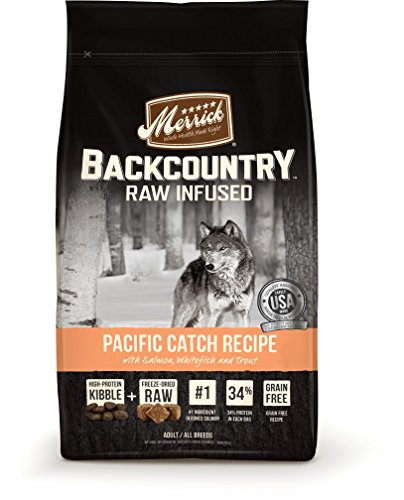 Merrick Backcountry Raw Infused Grain Free Dry Dog Food Pacific Catch Recipe - 12.0 lb Bag