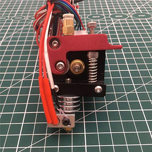 XACQuanyao LMY-Pulley, Impresora 3D 1 Juego de Piezas MK8 Extrusora Kit Directa 1.75mm con teflón Rotura Conjunto Extrusora J Head 1,75 mm 12 / 24V 40W (Size : 24V 0.2mm)