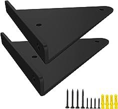 2 stuks onzichtbare plankhouders met schroeven, doe-het-zelf metalen plankhouders, Iron Art driehoekig, wandplankdragers v...