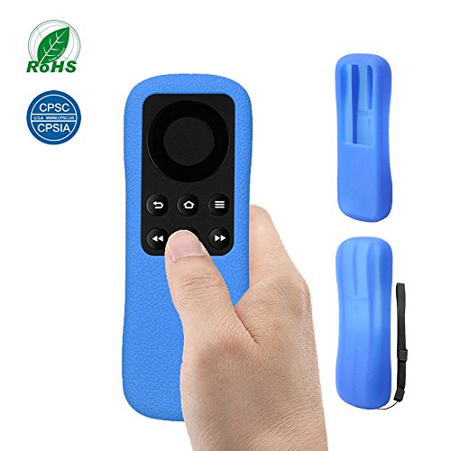 Custodia per Telecomando Fire TV Stick SIKAI Custodia Antiurto in Silicone per Amazon Fire TV Stick Copertura Telecomando Protettiva Antipolvere Anti-Scivolo con Cordino Anti-Perso (Blu)