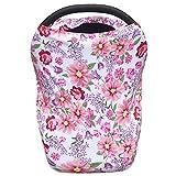 Toldo para asiento de coche para bebé, extra suave y elástico, color morado y rosa