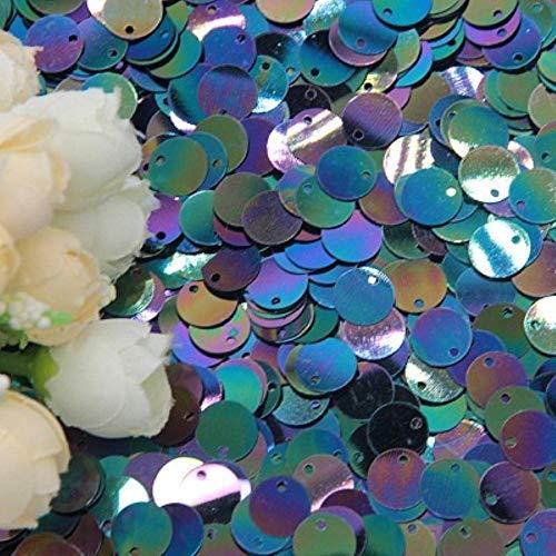 6mm 10mm 20mm Glitter Pailletten Platte Ronde PVC Pailletten met Flash Poeder Voor Craft lentejuelas para manualidades 20g, ab zwart, 20mm 20g