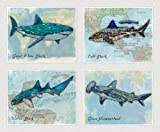 Fun shark designs that are sure to liven up any space Printed by professionals on archival photo paper Designed, created, and printed in the USA Different sizes available **Prints DO NOT come framed**