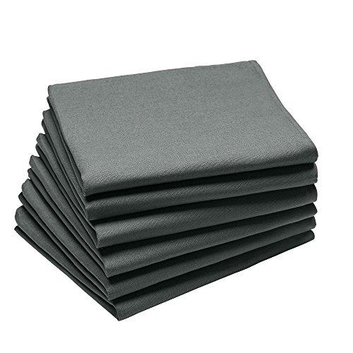 Coucke Serviette Coton Anthracite 63 x 45 x 0,3 cm Lot de 6