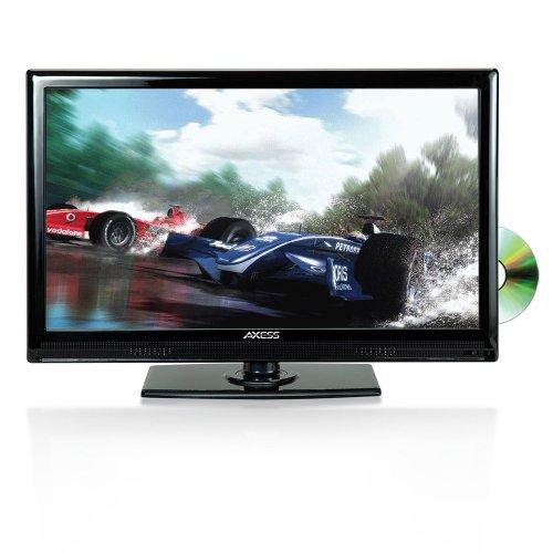 AXESS TVD1801-19 19-Inch LED HDTV, Features 12V Car Cord Technology, VGA/HDMI/SD/USB...