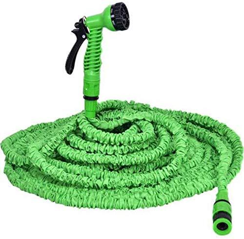 Power Banks Uitbreidbare tuinslang met 6 functie-spuitpistolen mondstuk messing armaturen ventielwand voor gazons / huisdieren / auto / boot wassen