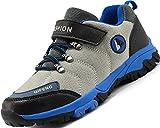 Lvptsh Zapatillas y Calzado Deporte Niños Zapatillas de Senderismo Niño Impermeables Botas de Montaña Zapatillas Trekking Aire Libre,Greyblue,EU35
