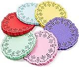 Juvale Mini blondas redondas de papel de encaje (6 colores, 600 unidades)